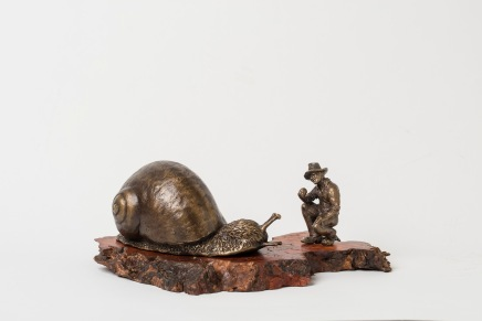 Snail Whisperer bronze
